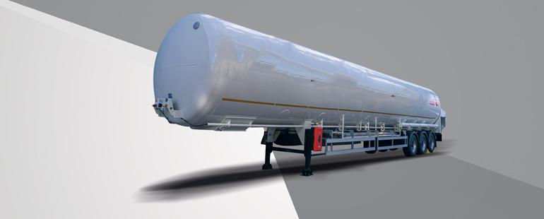 شاحنات نقل الغاز الطبيعي المسال (نصف مقطورة أو شاحنة محمولة)