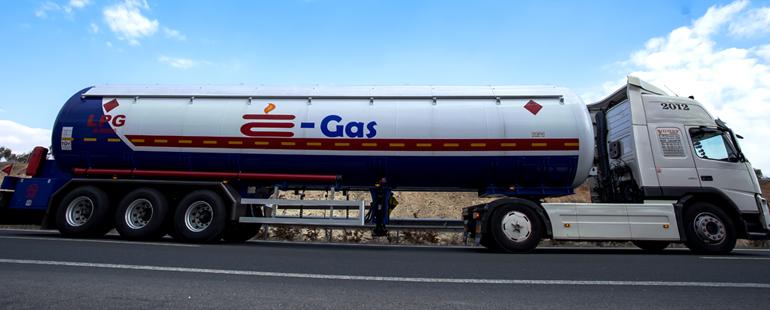 غازالبترول المسال نصف مقطورة (شبھ مقطورة)